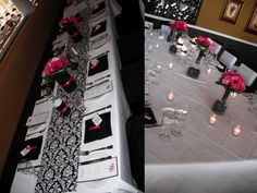 Love the table on the left. I would like to do something like this for the wedding party's table.