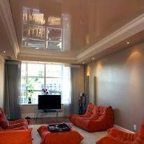 A beautiful living room with high gloss stretch ceiling. - http://ift.tt/1HQJd81