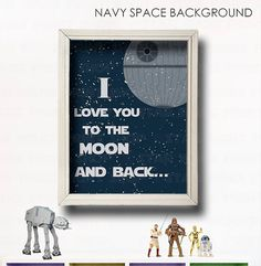 I Love You To The Moon And Back Star Wars Nursery par LilyLeilaRose