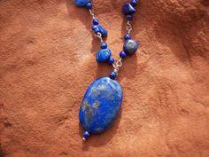 Blue and Gold Lapis Lazuli Pendant & by MountainUrsusDesigns, $98.00
