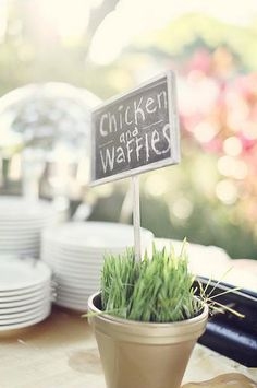 LOVE Mini Chalkboards, love them even more for food signs at a party!