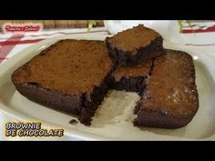 BROWNIE DE CHOCOLATE MUY FACIL Y RIQUISIMO - YouTube Brownies, Make It Yourself, Cake, Maria Jose, Desserts, Youtube, Facebook, Halloween, Videos