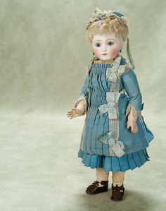 Extremely Rare French Bisque Bebe Steiner, Series B in Original Costume - circa 1885