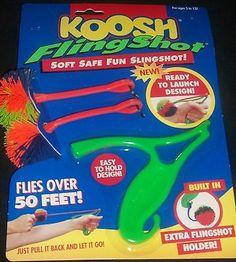 Koosh Fling Sling Shot NIP Balls Oddzon Hasbro HTF Rare Fun Game Kids Toy