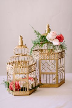 Find yourself a bird cage for your card box! Riviera Coutry Club Wedding | Planner: Meg West | Brian Leahy Photo
