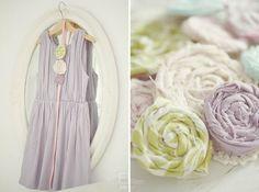 Fräulein Klein : DIY: Fabric Flowers, Stoffblumen