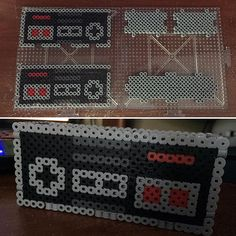 NES Controller card holder perler beads by breadanjelly