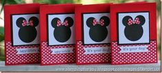 kids cards, Minnie mouse card, girl birthday card, Melissa Buecher Stampin' Up! demonstrator,  Cased from Susan Wohlfert