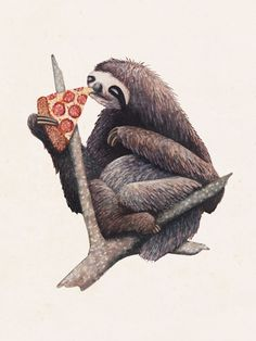 Pizza Sloth via John Stortz. Click on the image to see more!