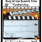 "Wrap up the year with this movie-themed end of the year craftivity. ""That's a Wrap"" craft to sum up the school year. Cute keepsake for each student! FREE on TpT Students will enjoy reminiscing about their friends, favorite memories, and a. End Of School Year, School 2017, The New School, Back To School, School Stuff, Summer School, School Fun, Middle School, Hollywood Theme Classroom"