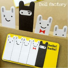Minimum order $10(Mix order) Cute Rabbit Stationery Sticker Post It Bookmarker Memo Pad Flags Sticky Notes / Free shipping