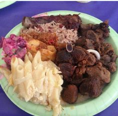 Authentic Haitian food: griot