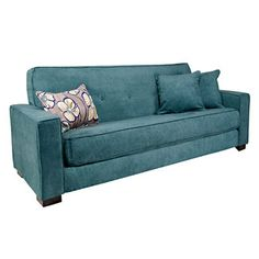 Angelo Home Alden Sleeper Sofa Blue Single Cushion Diy Couch