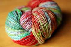 yarn hand dyed in crock pot with kool- aid.