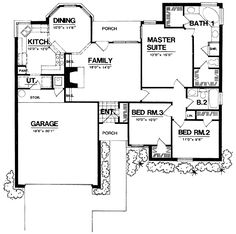 Plan W7426RD: Narrow Lot, Traditional House Plans & Home Designs