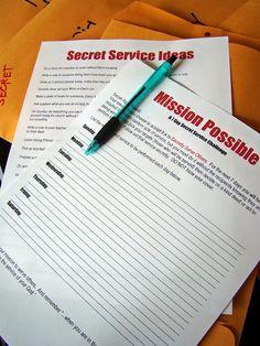 Secret Service (Activity Days Activity) - tHe fiCkLe piCkLe: