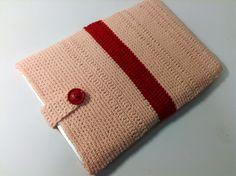 """11インチのノートパソコン用スリーブケース Knit for 11"""" Notebook in Pink and Red"""
