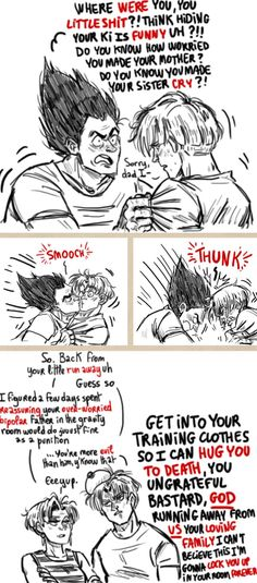 Stupidoomdoodles Trunks runaway--- i think about this a lot