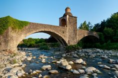 BRIDGE TO CHIOSI (PONTE AI CHIOSI) - PONTREMOLI \ Tuscany. A beautiful valley, between the green of the Lunigiana, in the province of Massa and Carrara: here is Pontremoli, and here to Chiosi Bridge, the river Magra, one of the most beautiful in Italy.