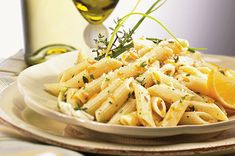 Lemon-Herb Penne : Healthy Pasta Recipes