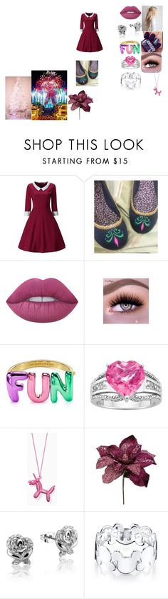 """""""Christmas At Disney"""" by biphangirl666 on Polyvore featuring WithChic, Lime Crime, Kate Spade and Disney"""