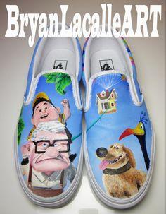 For Josh...Custom Vans  Disney UP by BryanLacalleART on Etsy, $150.00
