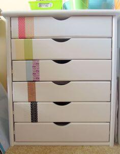 washi tape ideas diy project furniture jazz up bureau