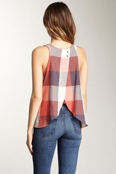 """Maybe a variation of that open-back shirt I've been pondering? """"Tulip Hem Tank"""""""