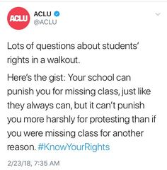 My school is such a blessing, the principal decided to make both the official walkouts excused absences.