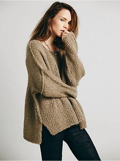 Free People Teddy Bear Pullover, $128.00