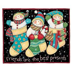 Friends Are the Best Presents...WOULD MAKE A NICE SET OF 3 ORNAMENTS...