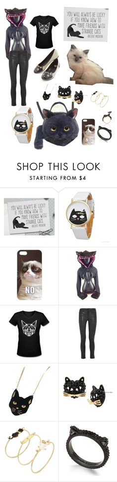 """""""Cats!  Cats gone wild"""" by bluehatter ❤ liked on Polyvore featuring Forever 21, Frame Denim, Chicnova Fashion, Betsey Johnson and Kate Spade"""