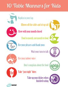 10 Table Manners for Kids