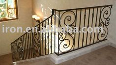 Looking for staircase wrought iron railings ? Here you can find the latest products in different kinds of staircase wrought iron railings. We Provide 8 for you about staircase wrought iron railings- page 1 Iron Handrails, Wrought Iron Stair Railing, Stair Railing Design, Balustrades, Iron Railings, Steel Railing, Steel Stairs, Staircase Molding, Staircase Railings