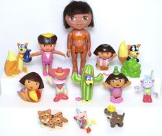 Dora The Explorer PVC Toy Doll Figure Cake Topper Lot Swiper Fox Boots Monkey | Toys & Hobbies, TV, Movie & Character Toys, Dora the Explorer | eBay!
