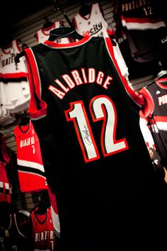 Once We Reach 100K Followers On Twitter (@pdxtrailblazers), One Lucky Fan Will Receive This Autographed, Lamarcus Aldridge Swingman Jersey!