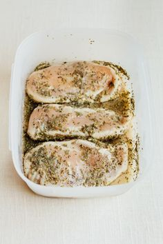For the most flavor, remember to pat the chicken dry before marinading it. Recipe here.
