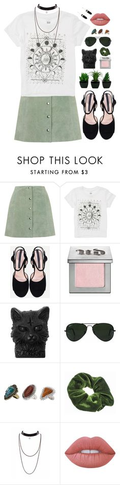 """""""My only sun."""" by shadowofday ❤ liked on Polyvore featuring Topshop, Billabong, Urban Decay, Ray-Ban and Lime Crime"""