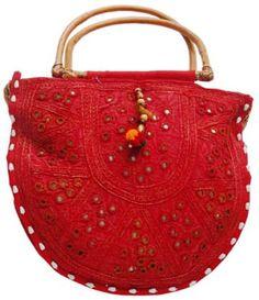 Mirron Work Kadi Shopping Bag indian handicrafts