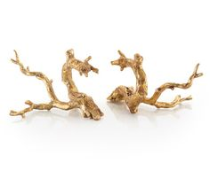 John Richard - Just Gold Twigs - set of two gold finished twigs will light up book shelves or great to mingle with other accessories to create an eye catching tablescape. Luxury Wedding Gifts, Luxury Gifts For Men, Tabletop Accessories, Decorative Accessories, Bliss Home And Design, Sculptures For Sale, Up Book, New Home Gifts, Decorative Objects