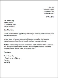 UK business letter format