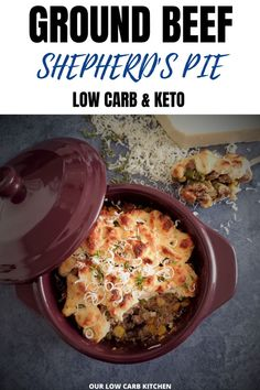 55 minutes · Serves 8 · AMAZING!! So much flavor and the cauli mash has the perfect consitancy with just the right amount of garlic! 1200 Calorie Meal Plan, Low Carb Meal Plan, Low Carb Keto, High Protein Meal Plan, High Protein Recipes, Ground Beef Recipes For Dinner, Low Carb Dinner Recipes, Beef Casserole Recipes, Chicken Casserole