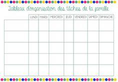 Deux Soeurs Un Agenda - Des idées pour le quotidien des parents: Tableau d'organisation des tâches | Education
