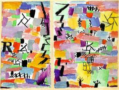 """Paul Klee 'Constructed in Color with Black Graphic' 1919 Gouache on paper 8.6 x 11.8"""""""