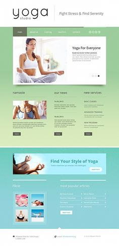 Website template for #Yogaclub. Nice! #CMS