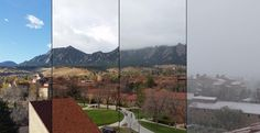 Winter swooped in fast, going from 60 degrees in the morning to freezing in the afternoon. Here is the weather sequence perfectly captured by aerospace engineering student Chris Nie. #cuboulder #boulder