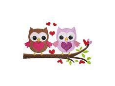 10x10 Stickdatei Cute Owls Ast-Eulen 7 Regular von kindundkegel-shop auf DaWanda.com