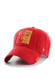 75b3b029d89 Pitt State Gorillas Red Sparkle Clean Up Womens Adjustable Hat
