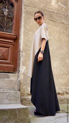 Платье Long short Dress – купить или заказать в интернет-магазине на Ярмарке Мастеров | Модное, экстравагантное, летнее платье в пол.