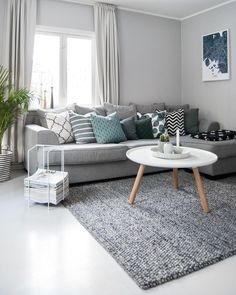 45 amazing gorgeous living room color schemes to make your room cozy 21 - Home Design Ideas Living Room Color Schemes, Living Room Grey, Home Living Room, Apartment Living, Living Room Designs, Living Room Decor, Living Room Tables, Living Room Inspiration, Room Colors